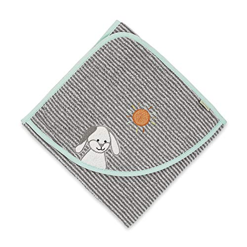 Sterntaler Serviette de bain à capuche Waldis Hoppel avec capuche, Âge: à partir de 0 Mois, 80 x 80 cm, Gris