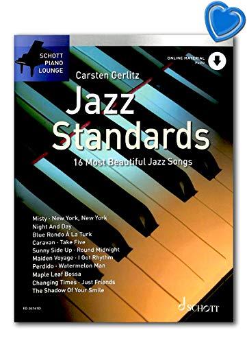 Jazz Standards The 16 Most Beautiful Jazz ED20741D 9783795717285 - Juego de música para piano (en alemán)