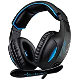 SADES Gaming Headset, 3.5mm Stereo Wired Over-Head Gaming Headphones, Over Ear Noise-canceling...