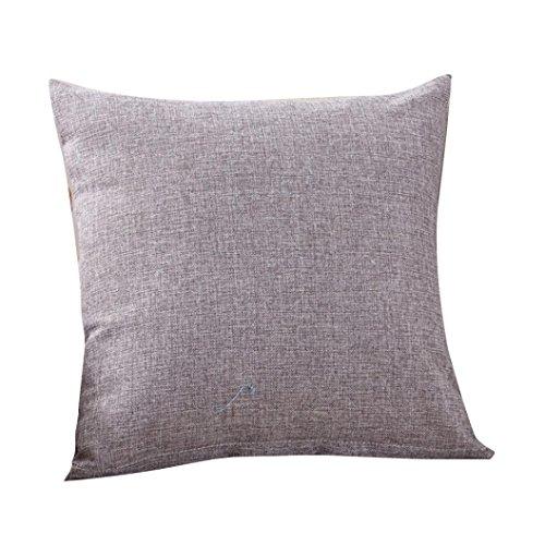 UBabamama Housse de coussin de couleur unie, simple, tendance, pour café, canapé, décoration de la maison, gris
