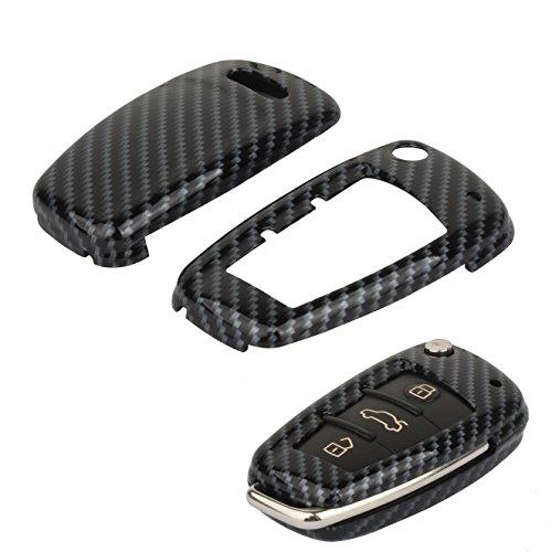 TOMALL schlüssel Kohlefaser Abdeckung Für A3 A4 A6 A8 TT Q7 Smart Fernschlüssel Fall