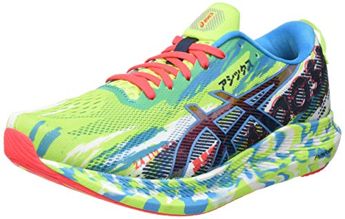 Asics Gel-Noosa Tri 13, Road Running Shoe Hombre, Hazard Green/Digital Aqua, 43.5 EU
