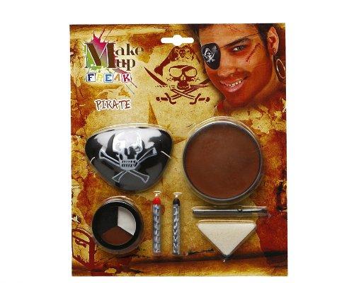 Atosa 8422259143420 - Schminkset Pirat mit Zubehör, 20 x 23 cm