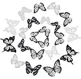 3D Mariposas Pegatinas, 72 piezas Mariposa Decoración, Etiqueta de la pared Mariposa, Mariposa Bricolaje Calcomanías, Pared Removible Pegatinas Mural para bricolaje salón dormitorio decoración