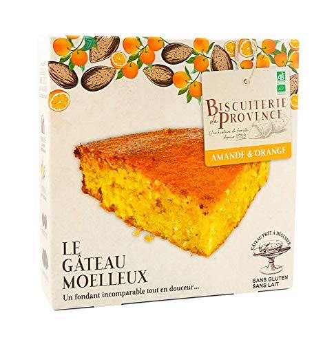 Biscuiterie de Provence Torta di Mandorle e Arance Biologica Senza Glutine e Senza Conservanti - 1 x 225 Grammi