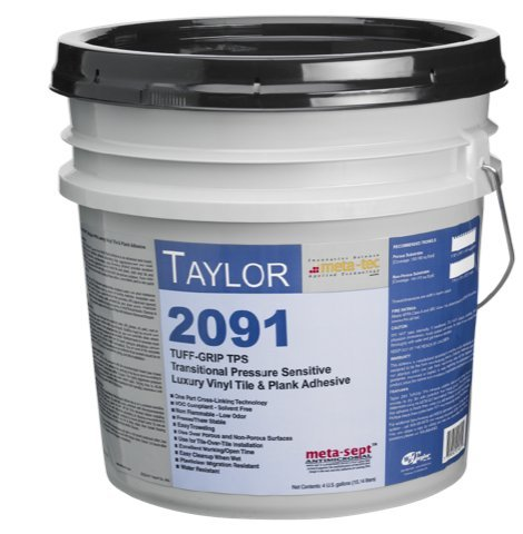 WF Taylor 2091-4 4 gal. Tuff Grip Tps Pressure Sensitive Vinyl & Rubber Flooring Adhesive