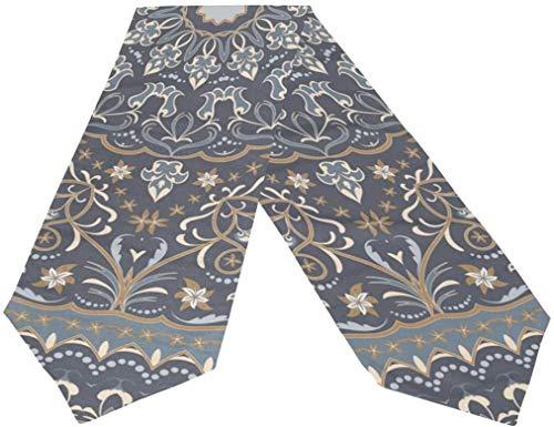 Short Sleeve Camino de Mesa de Tela con patrón árabe Vintage, manteles Individuales para Cocina, Comedor, decoración de Mesa para Banquete de Boda, decoración de Fiesta