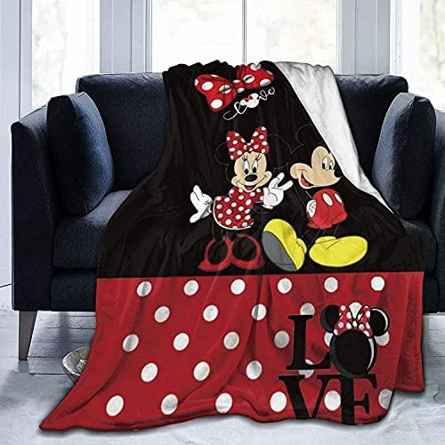 Manta Mickey Mouse, manta de Mickey Mouse, fabricada en suave microfibra cepillada, bonita manta de dibujos animados (Mickey 4, 130 x 150 cm)