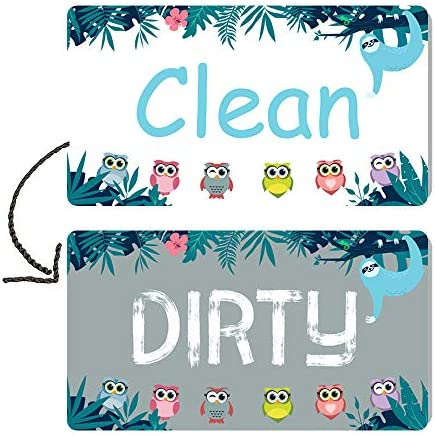Berrysun Dishwasher Magnet Clean Dirty Sign Strongest Magnet Waterproof Double Sided Flip Sign product image