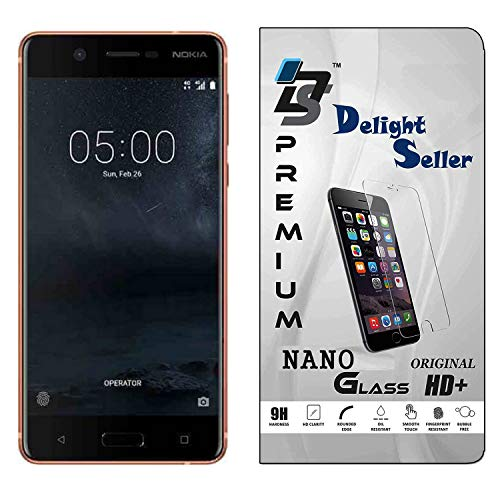 Delight Seller Nokia 5 (Copper, 16 GB) (2 GB RAM) Flexiable Nano Glass Screen Protector with Unbreakable Nano Film Glass [ Better Than Tempered Glass ] Screen Protector
