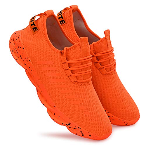 layasa Men's Air Series Mesh Sports Running Shoes (Made in India) (Orange,...