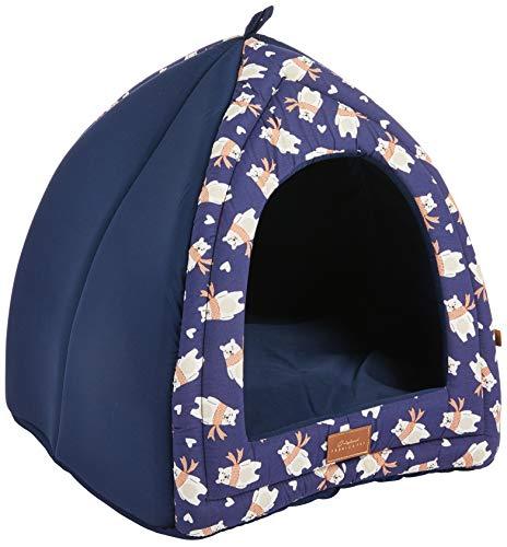 Cabana Fábrica Pet para Cães, Único, Azul