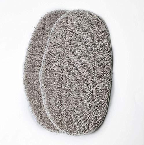 MRZJ Leifheit Ersatzpads Dampfreiniger CleanTenso, Dampfbesen Wischbezug für eine porentiefe Reinigung, Dampfmop Ersatz mit Klettunterseite 2Stück