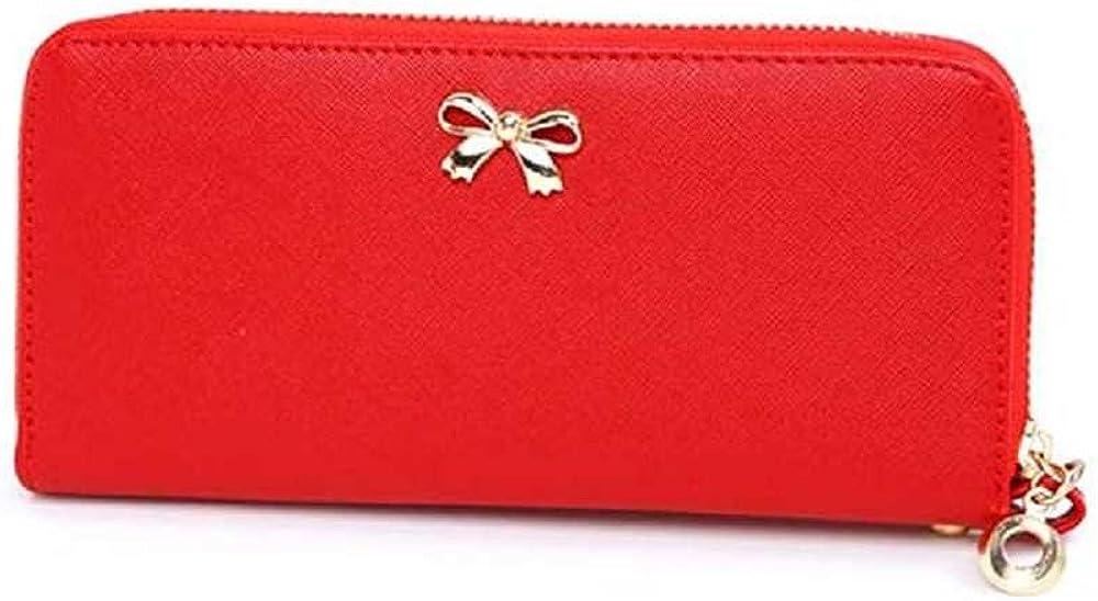 Fittingran, portafogli da donna, porta carte di credito, in pelle 323615