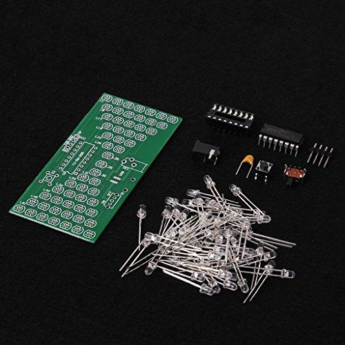 Yintiod 5V Elektronische Sanduhr DIY Kit Lustige elektronische Produktionskits mit LED