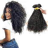Ladiary pelo natural humano pelo rizado natural 3 paquetes extensiones de cabello natural total 300g 22 24 26 pulgadas