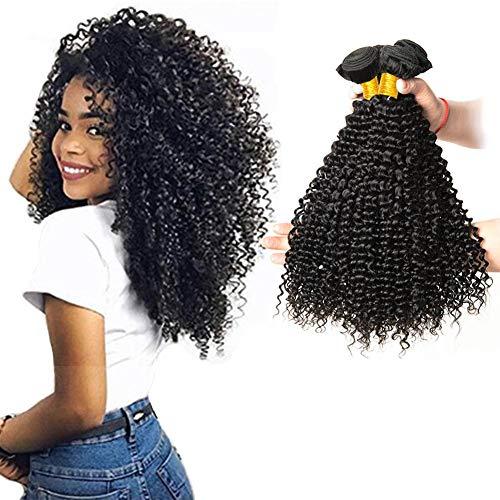 LAdiary capelli umani ricci extension capelli veri tessitura 3 fasci di capelli umani brasiliani capelli ricci extension veri totale 300g 22 24 26 pollice