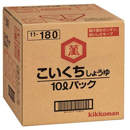 キッコーマン こいくちしょうゆ 10Lパック×1箱入×(2ケース)