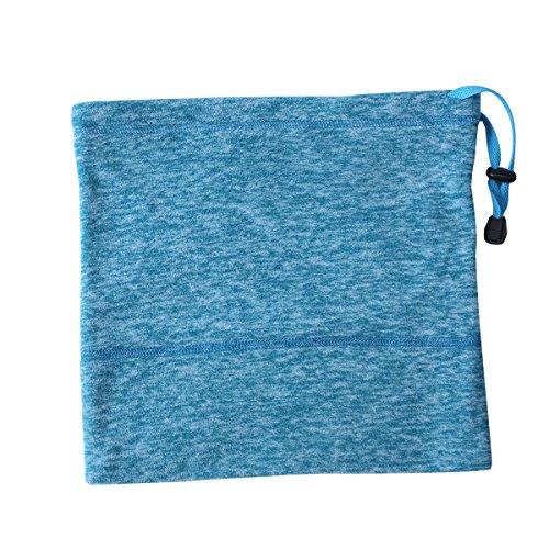 Queenbox® Thermische Halsmanschette Warmer Polar Fleece-Halbmaske Snowboard Kopfbedeckung Bandana Stirnband Schal Mütze Mütze