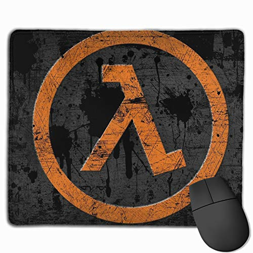 Half Life Non-Slop Rubber Mousepad Gaming Mouse Pad with Stitched Edge 11.8'X9.8'