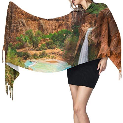 Bufandas Abrigo Chal Amazing Views Of Grand Canyon Arizona Designer Scarf Ladies Scarfs Shawl Wrap Women 77x27inch/196x68cm Large Soft Pashmina Extra Warm