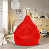 Aart Store Leather Classic Bean Bag Filled with Beans Red -XXL Size