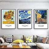 LIANGX Van Gogh Berühmte Malerei Sonnenblume Sternenhimmel