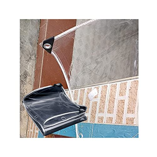 Lona De Cortina Impermeable Transparente Lona Impermeable Para Gazebo Protector Solar, Antiséptico, Duradero Para Tela De Cortina De Toldo Exterior, 45 Tamaños ( Color : Clear0.55mm , Tamaño : 3X8M )