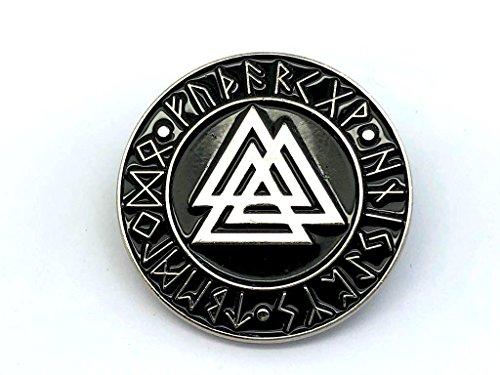 Patch Nation Valknut Knot des Erschlagenen Wikingers Silber Metal Pin Badge