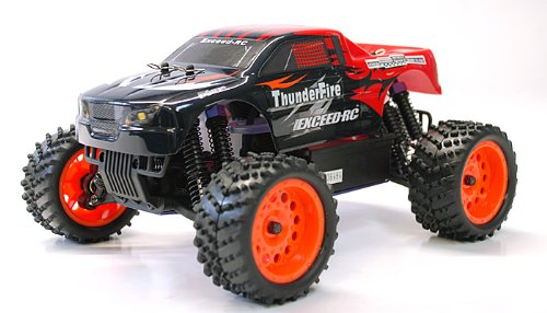 1/16 2.4Ghz Exceed RC ThunderFire Nitro Gas Powered RTR Off Road Truck Sava RedSTARTER KIT Required and Sold Separately