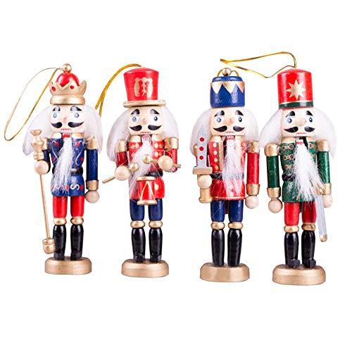 Makluce nieuwe creatieve kerstmis Europese en Amerikaanse notenkraker houtsoldaat 4 stuks set decoratie partij sieraden