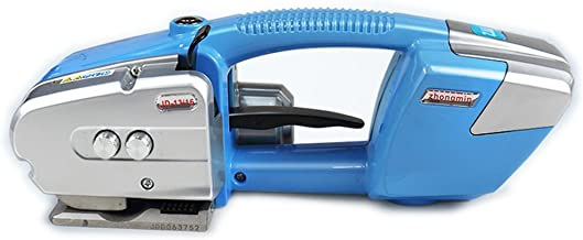 BAOSHISHAN Electric Welding Strapping Machine for PP/PET Battery Powered Charged 1/2 in-5/8 in Strap Width (Blue)
