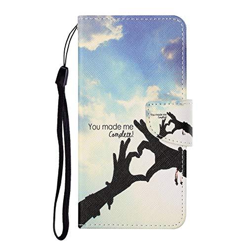 VQWQ Custodia per iPhone 6S Plus 5.5' - Motivo Dipinto Paint Portafoglio Custodia in PU Pelle Caso Libro Antiurto Magnetica Flip Cover per iPhone 6 Plus / iPhone 6S Plus 5.5' [Animal] -Amore