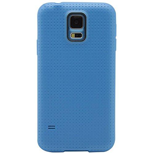 Phonix Textuur hoes met screen protector voor Samsung Galaxy S5 Mini G800 blauw