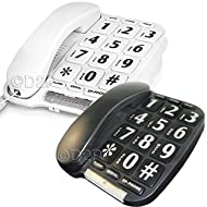 Corded telephone Telephone features -large button design -easy grip handset -hands free
