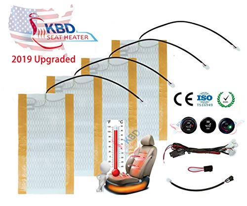 KBD Universal seat Heater kit for Most Vehicle with Hi/Lo Setting 2 Seats