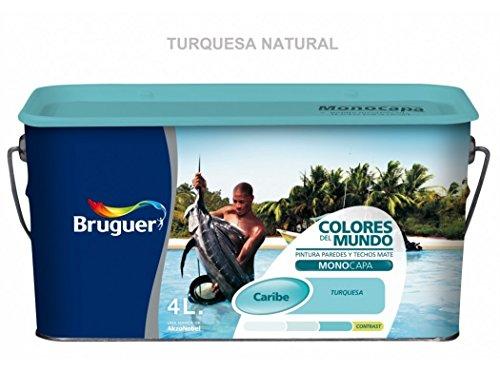 Bruguer 5160737 - Colores del mundo Caribe TURQUESA natural 4 L