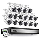 ZOSI H.265+1080p 16 Channel Security Camera System,16 Channel DVR