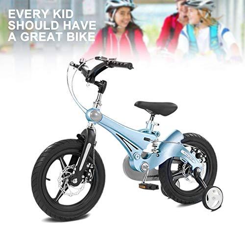 NEWPIN Magnesium legering jongens kinderen fiets met schokdemper veer, onderzetter rem + voorrem, verwijderbare steunwielen