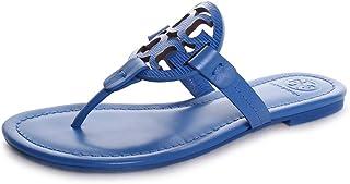 a73b44b61ed1e5 Tory Burch Women s Miller Flat Thong Flip Flops Bright Tropical Blue Leather
