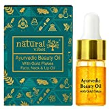Natural Vibes ~ Gold Beauty Oil ~ Elixir for face, lips, neck and peaceful sleep ~3 ml neck creams Oct, 2020