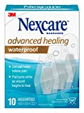 Nexcare Waterproof Advanced Healing Hydrocolloid Bandages, Assorted 10 Piece