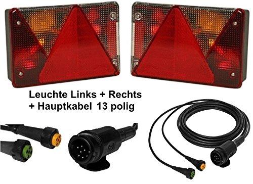 FKAnhängerteile Aspöck Multipoint 4 - Leuchtenset - 13polig - 4m Kabel