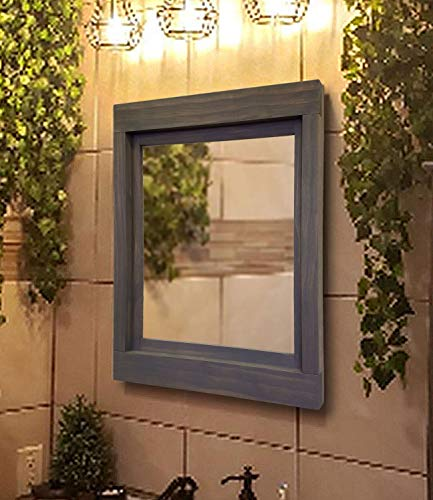 Farmhouse Framed Wall Mirror, 20 Stain Colors - Large Framed Mirror, Decor -