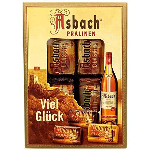 Asbach Pralinen Zarte Pralinen in Zartbitter/Vollmilch Schokolade 42g MHD:7/20