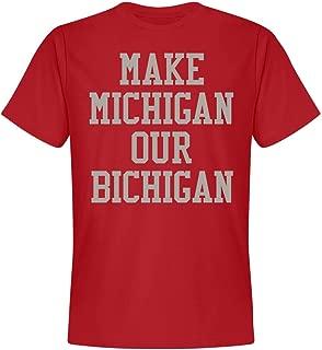 Michigan Bichigan Red Tee: Unisex Next Level Premium T-Shirt