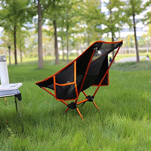 MoonLenceアウトドアチェア折りたたみコンパクト超軽量キャンプ椅子イス収納バッグ付きハイキングお釣り登山