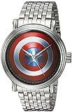 MARVEL Men's Captain America Analog-Quartz Watch with Alloy Strap, Silver, 22 (Model: WMA000023