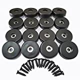 Howonder Rubber Feet and Speaker Cabinet Feet,16 Pack 40mm x 10mm for Appliances, Furniture, Stage Speakers and Guitar Amplifier Cabinet (Black)