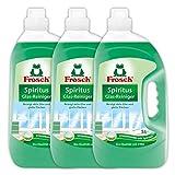 Frosch Spiritus Glas Reiniger, Glasreiniger für streifenfreien Glanz, 3er Pack (3 x 5 l)